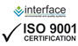Interface ISO 9001 certification graphic logo with text
